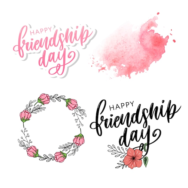 Happy friendship day Premium Vector