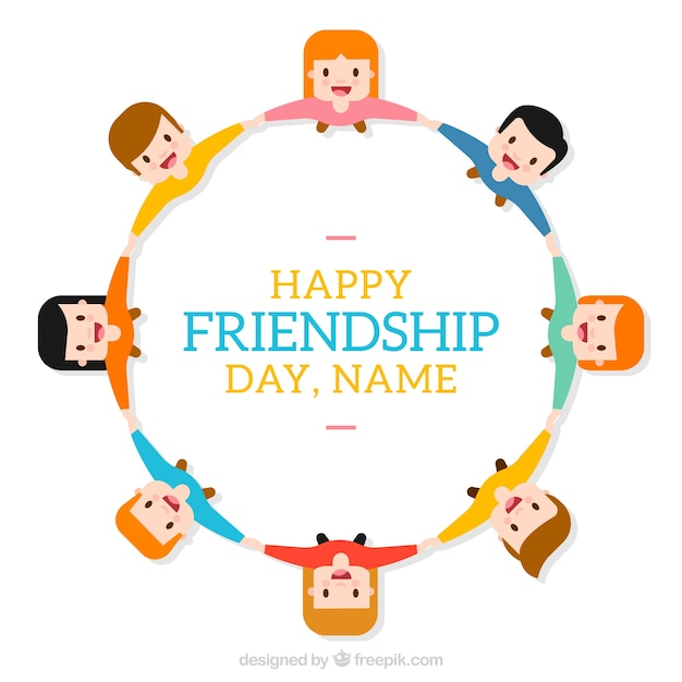 Happy frienship day background template Free Vector