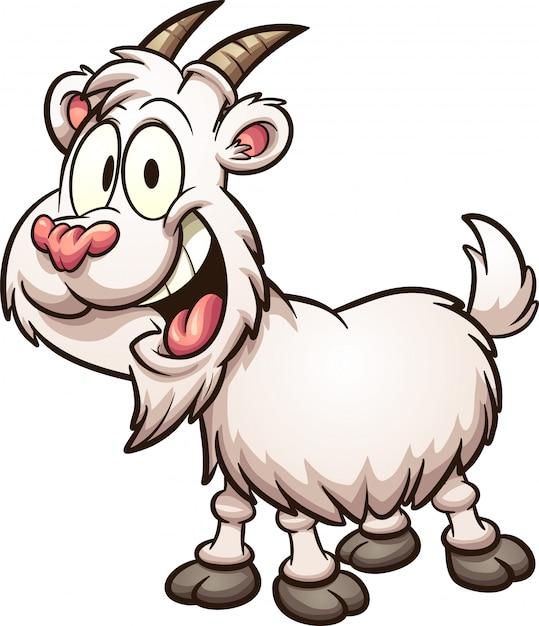 Рисунок прикольных коз надутое травой