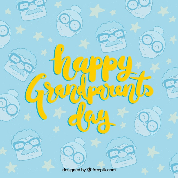 Happy grandparents day background with\ pattern