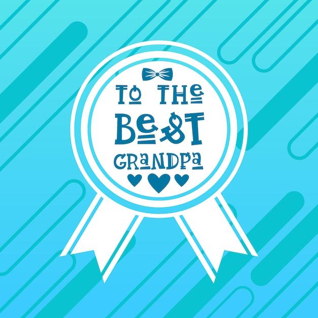 Happy grandparents day greeting card banner Premium Vector