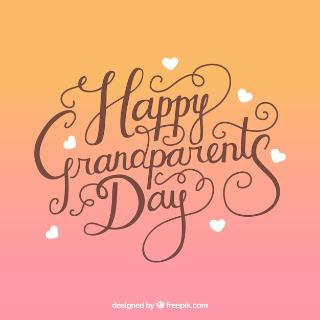 Happy grandparents day lettering background