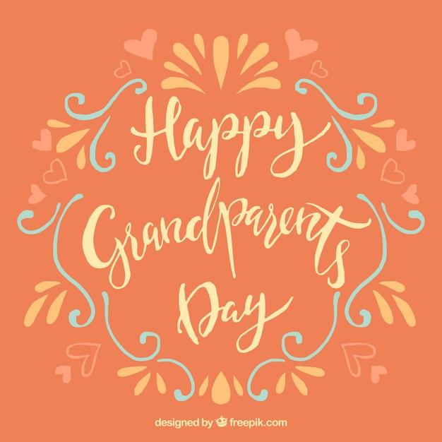 Happy grandparents day vintage lettering
