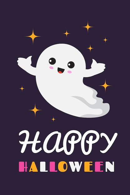Happy halloween background. cute ghost spooky ghostly baby ...