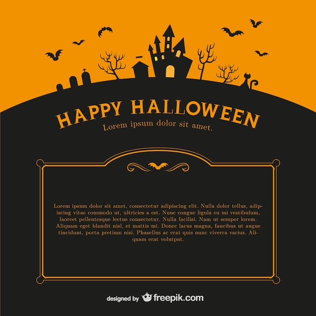 Happy Halloween Background Template Vector | Free Download