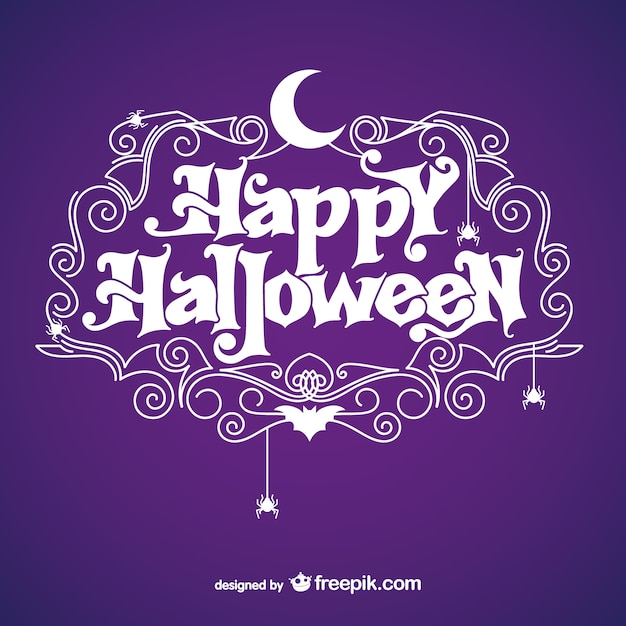 Happy Halloween background with moon