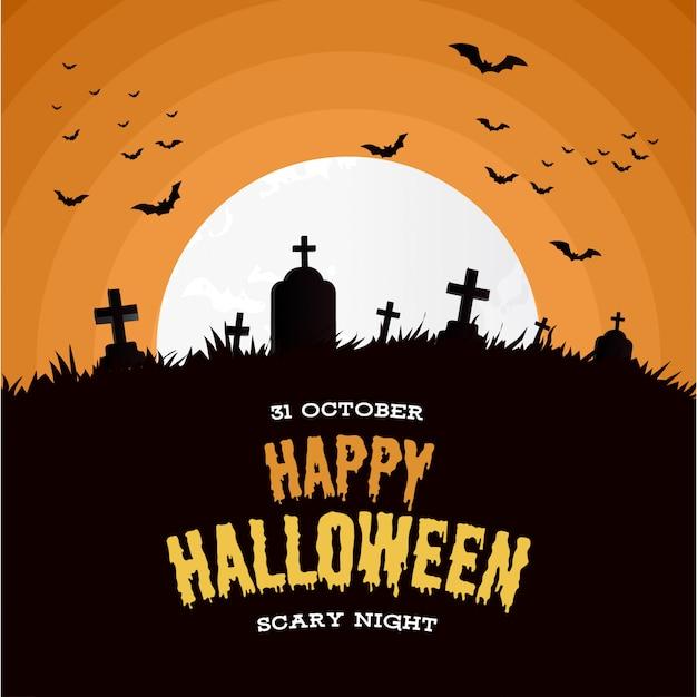 Happy halloween background Free Vector