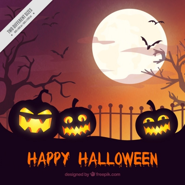 happy halloween background vector free download