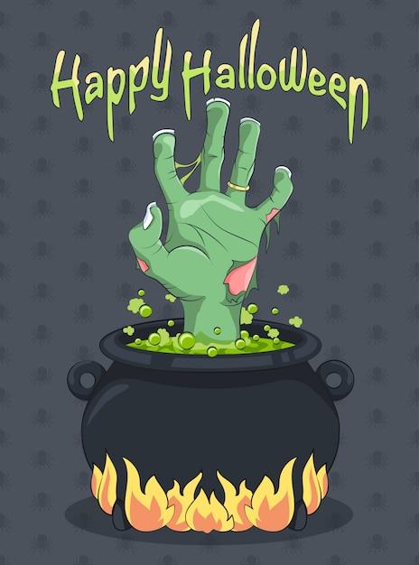 Happy halloween background Premium Vector
