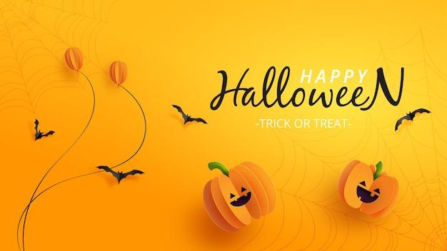 Happy halloween banner Premium Vector