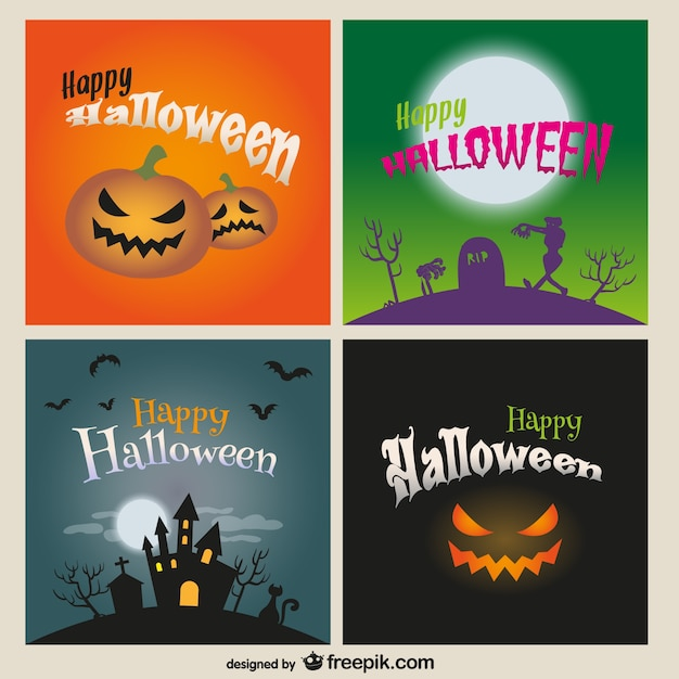 Happy Halloween card pack