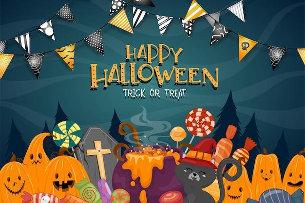Happy halloween celebration Free Vector