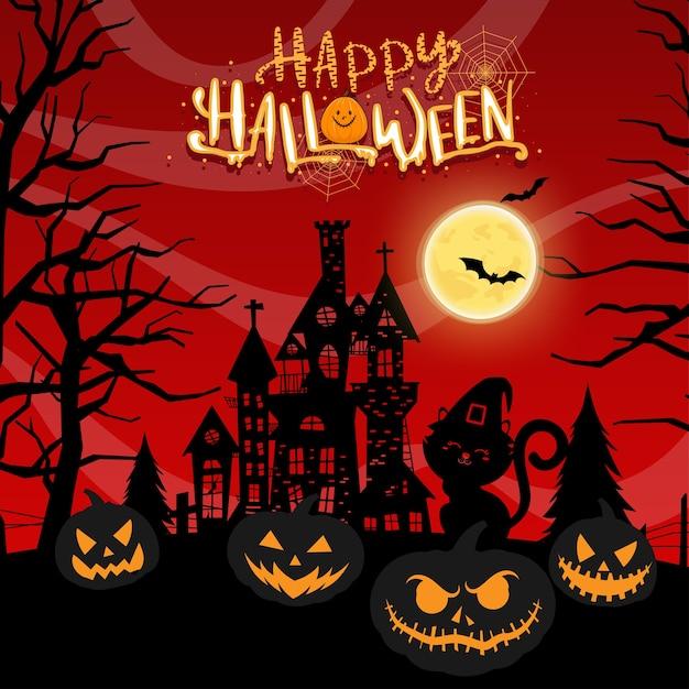 Счастливого празднования хэллоуина Бесплатные векторы
