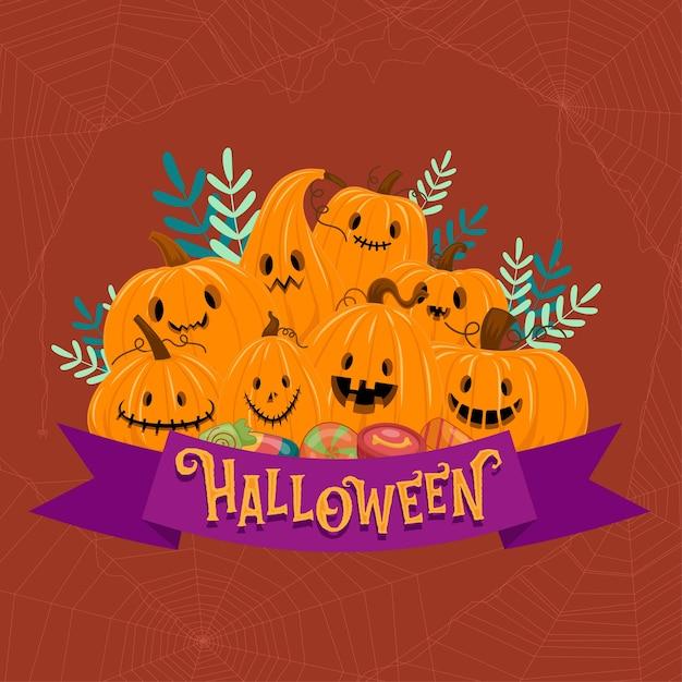Felice festa di halloween Vettore gratuito
