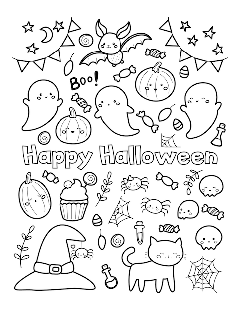 Halloween Coloring Images | Free Vectors, Stock Photos & PSD