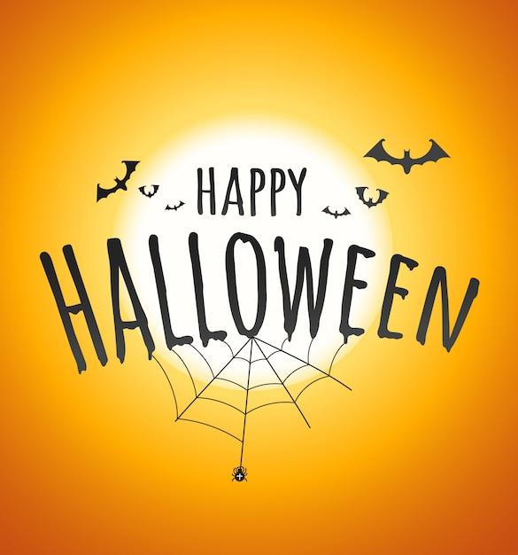 Happy halloween concept Premium Vector