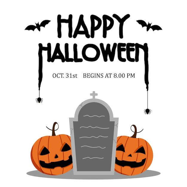 Happy halloween day Premium Vector