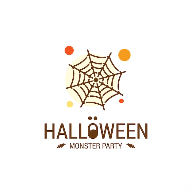 Happy halloween design with typography and white background Free Vector