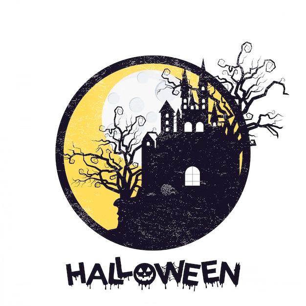 Happy halloween design with typography Free Vector