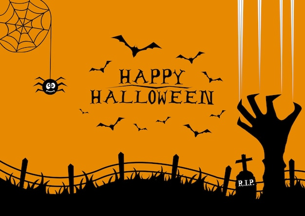 Happy halloween greeting card background design vector premium happy halloween greeting card background design premium vector m4hsunfo