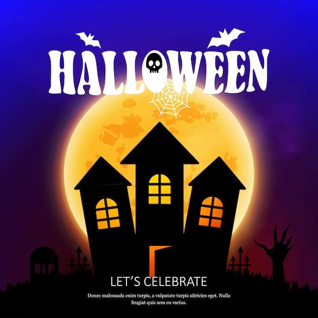 Happy halloween invitation card with creative design vector vector happy halloween invitation card with creative design vector free vector stopboris Choice Image