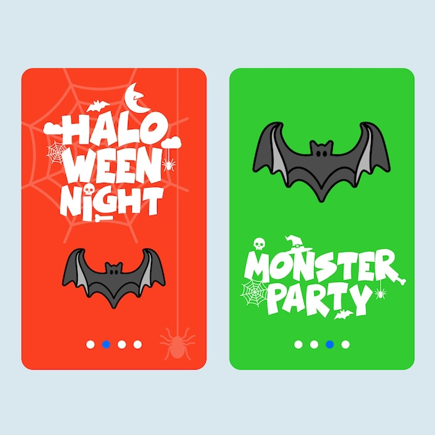 Happy halloween invitation design with bats vector Free Vector