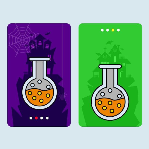 Happy halloween invitation design with drink vector Free Vector