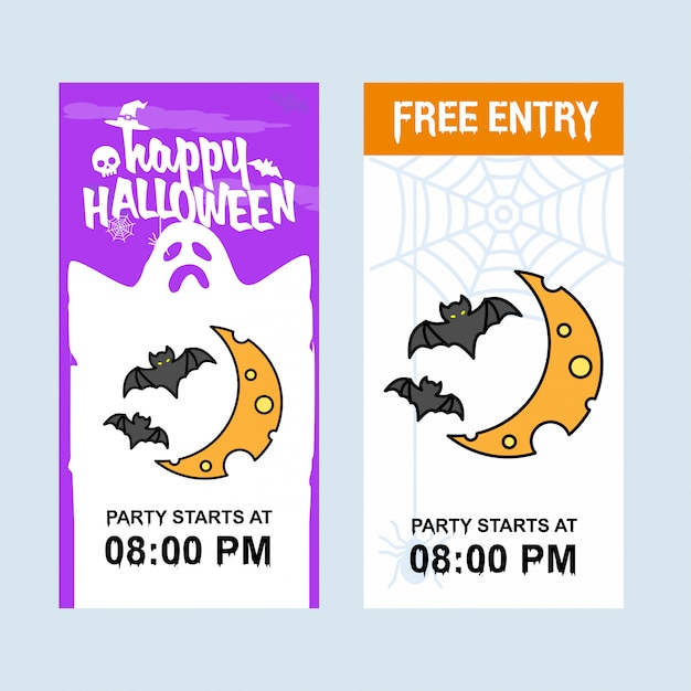 Happy Halloween Invitation Design Free Vector