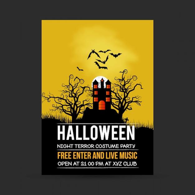 Happy halloween invitation design Free Vector