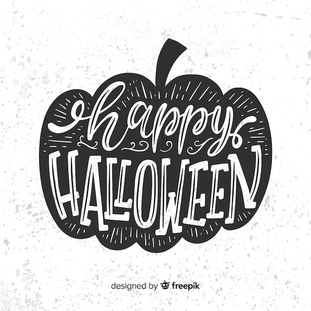 Free Vector Happy Halloween Lettering Background