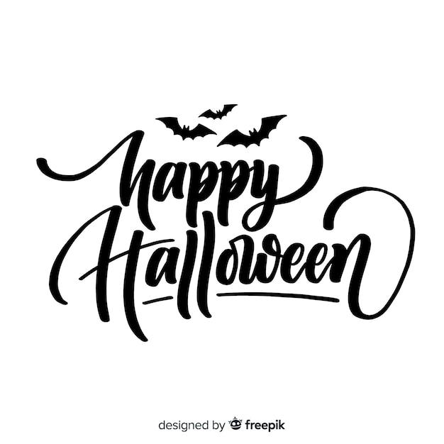 Free Vector Happy Halloween Lettering Design