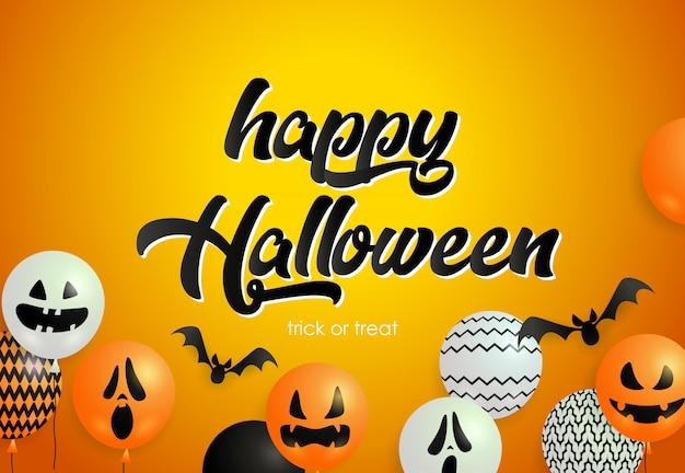 Happy halloween надписи с летающими летучими мышами ...