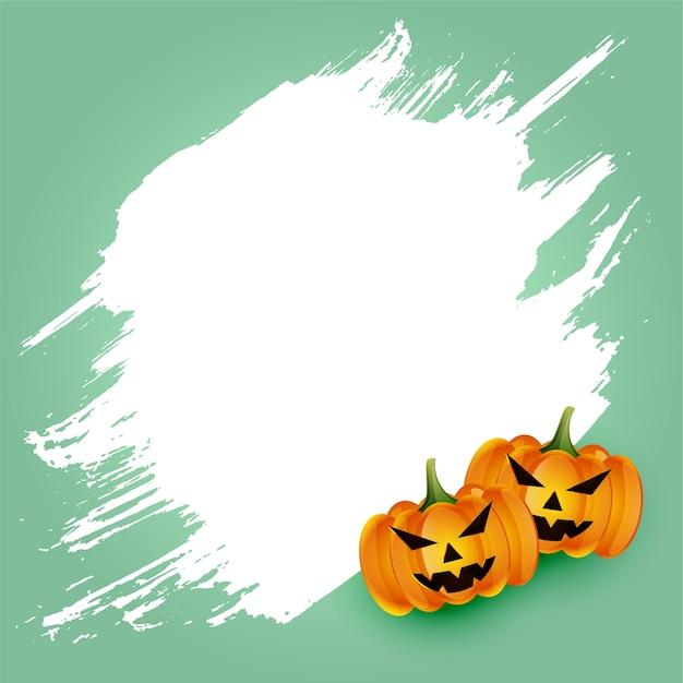 Carta spaventosa della zucca di halloween felice con lo spazio del testo Vettore gratuito