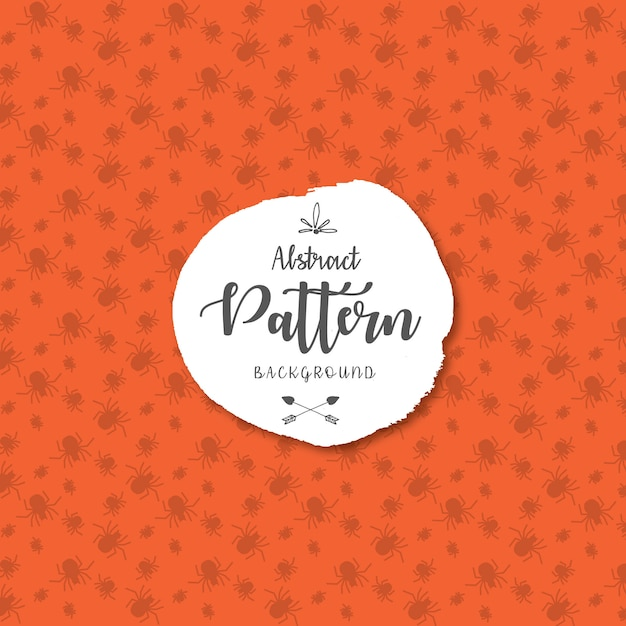 Happy halloween scary spiders pattern background Free Vector