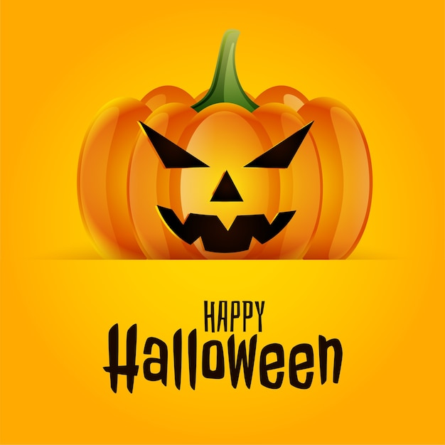 Priorità bassa spettrale spaventosa della carta della zucca di halloween felice Vettore gratuito