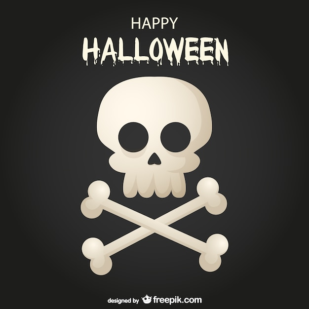 Happy Halloween skull and bones\ background