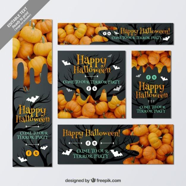 Happy halloween stationery Premium Vector