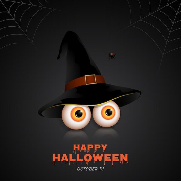 Happy halloween trick or treat eyes Premium Vector