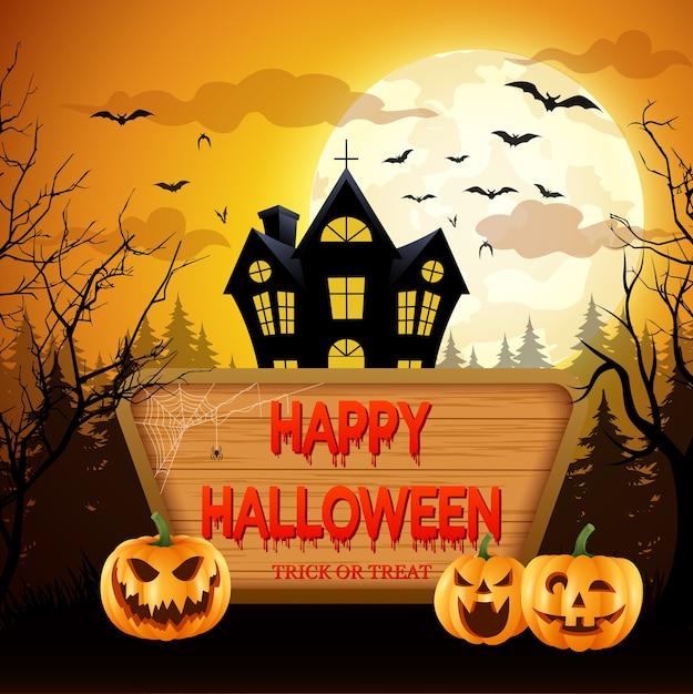 Happy halloween.vector illustration Premium Vector