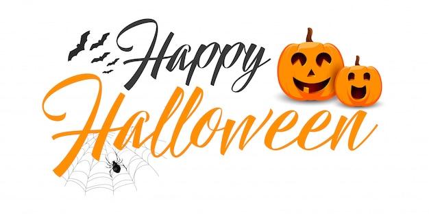 Happy halloween vector typography. Premium Vector