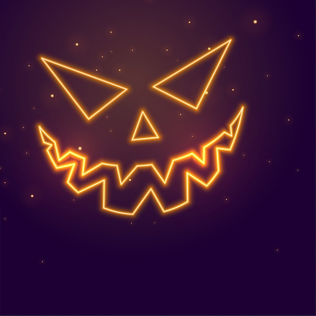 Happy halloween with evil pumpkin Free Vector