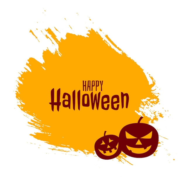 Happy halloween with scary pumpkins  card Free Vector