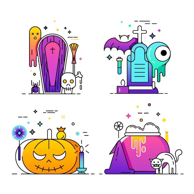 Happy halloween. Free Vector
