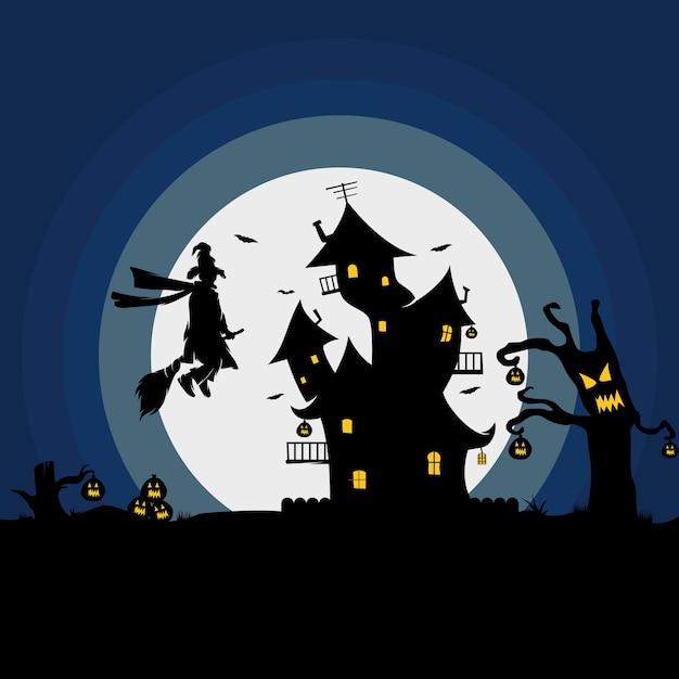 Happy hallowen logo design Premium Vector