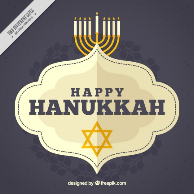 Happy hanukkah background with star and\ candelabra