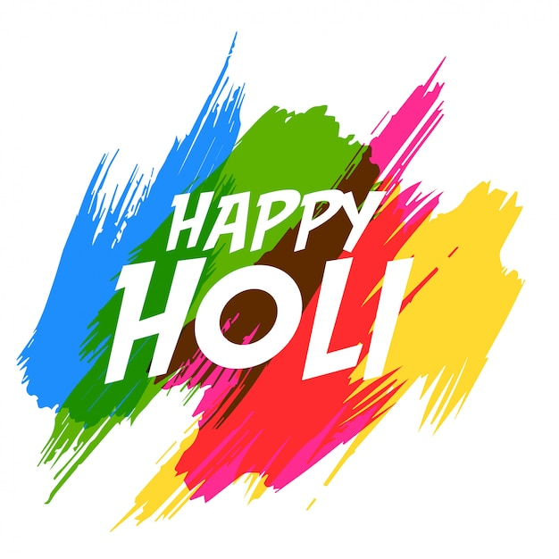 Happy holi abstract colorful background Free Vector
