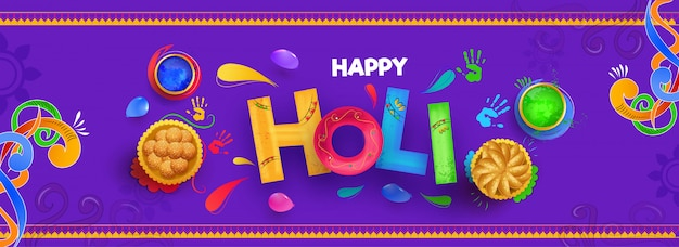 Happy holi background. Premium Vector