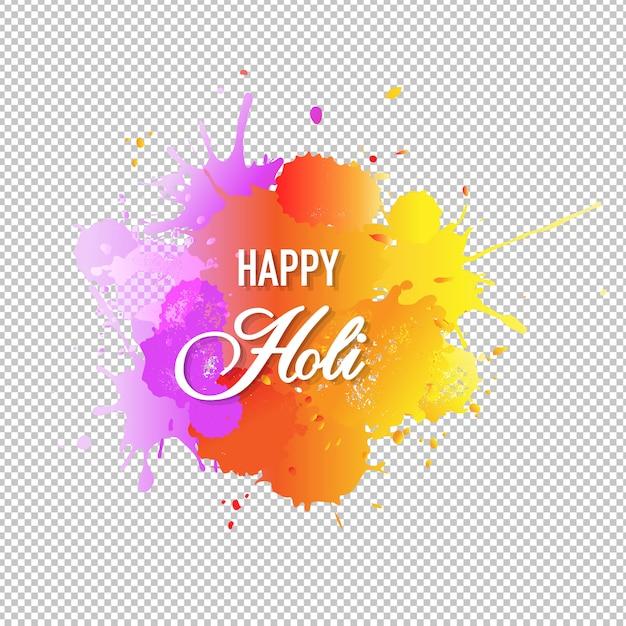 Happy holi card с формой капли Premium векторы