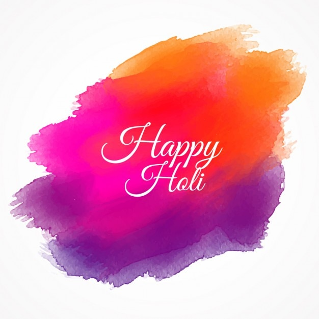 Happy Holi Colorful Paint Vector Free Download
