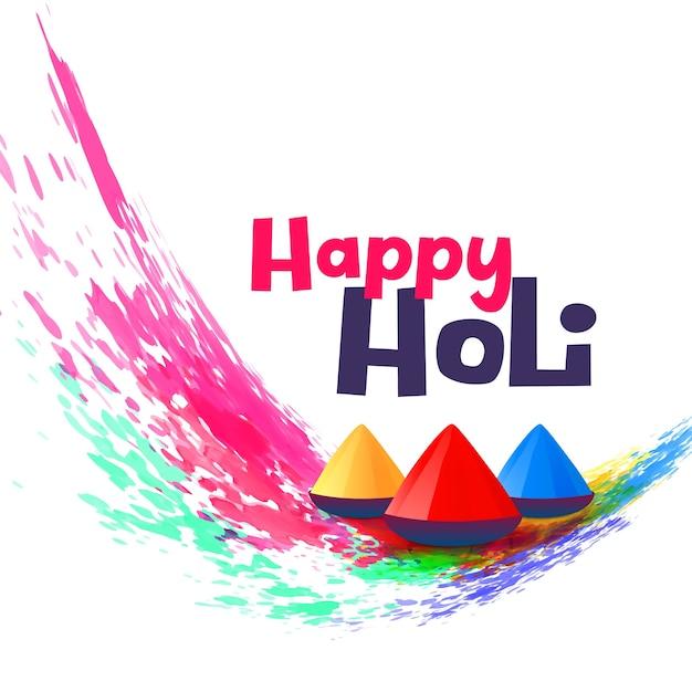 Happy holi greeting design background